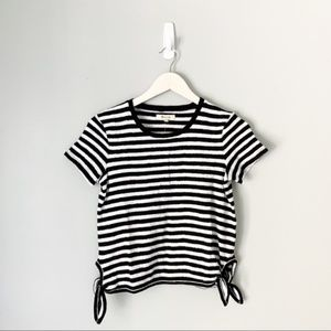 Nwot Madewell striped side tie top
